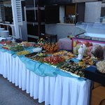 buffet at the turkish night in the hotel