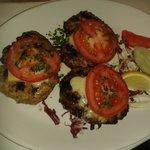 bifteki on the grill