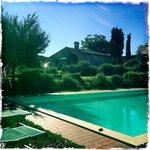 Zwembad in de tuin.