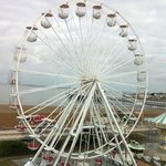 view of the huge Ferris wheel from room 409