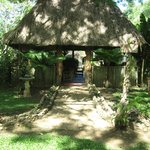 The entrance to our open air thatched roof palapa restaurant