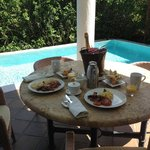 Champagne Breakfast by Room #1 Plunge Pool