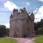The castle from the car park enterance