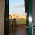 Doorway to patio of Honeymoon suite