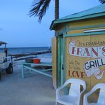 Fran's cook shack, right on the beach on front street