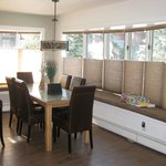 Great Dining Room in the Two Bedroom with view of Lake Tahoe Boulevard and Pool