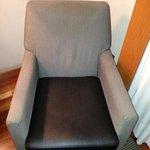 sillón con manchas