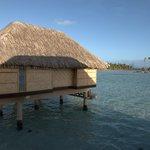 Overwater villa facing Bora Bora
