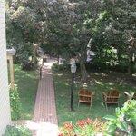 Garden area.
