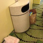 trash bags in halls/elevator lobby