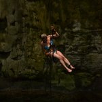 Rappeling in the Cenote