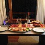 In-room dinning!