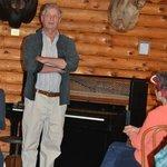 Pianist, Bob Miline, sharing period music at Pine Knot