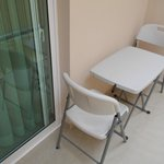 Little table and chairs in our outside terrace
