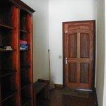 View of front entry door