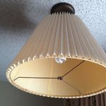 Lamp Shade Hanging from Ceiling