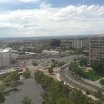 Albuquerque from the window of the room.