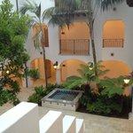 Outdoor courtyard of Villa