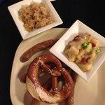 Nürnberger Sausage, Potato Salad and Sauerkraut