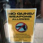Outside Entrance Proclaiming NO GUNS
