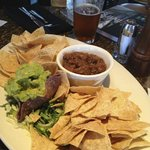 Guacamole Salsa and Chips @ Happy Hour