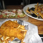 fish&chips / moules frites / pesto prawn flatbread