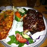 Delicious ribs with gratin potatoes - great meal!