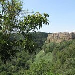 The lovely view to historic Calcata