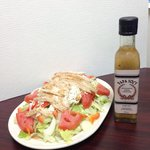 Chicken Greek Salad with our very own Papa Soc's Authentic Greek Dressing