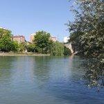 Local river, a five minute walk
