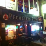 one of the many stops during the night, The Peculiar pub