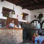 Bar/Serving Area inside the restaurant