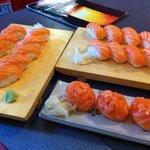 nighiri salmone e gunkan