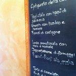 menu Agriturismo Il Talento Nella quiete Lake Como
