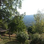 Overlooking the valley from our chairs in the sun..