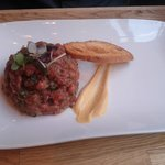 Beef Tartare with cognac. It was really delicious, I didnt really taste the cognac though