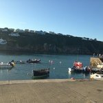Gorran Haven, fish and chips on the jetty.