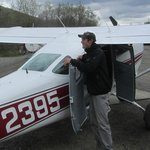 Our pilot and small plane