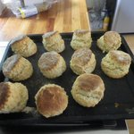 Wonderful perfect scones served to guests if they are around for afternoon tea!