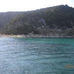 La spiaggia vista dal mare