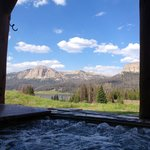 View from the amazing hot tub