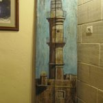 amazing painting of the lighthouse in the breakfast room