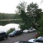 Looking down Kennebec River from Joyce's Deck