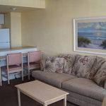 Sleep six living room area (sleeper sofa)