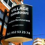 Village Tandoori - signage