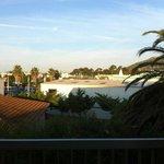 la vista sulla piscina -solo capannoni
