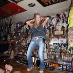 MeanStreet Mary doin what shes does on the bar at Hogs and Heifers