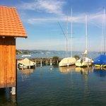 Bootshafen neben dem Badestrand (privat)
