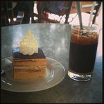Opera Cake and Iced Vietnamese Coffee with Condensed Milk