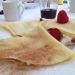 Esempio di colazione (tre diversi tipi di crepes...tutte squisite)